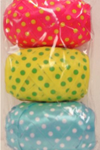 My Wrap® Curling Ribbon in Polka Dot Print