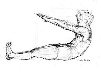 Pilates Roll-up matwork exercise