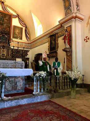 Malaussène (Alpes maritimes): Bénédiction de l'église renovée 01/09/2019