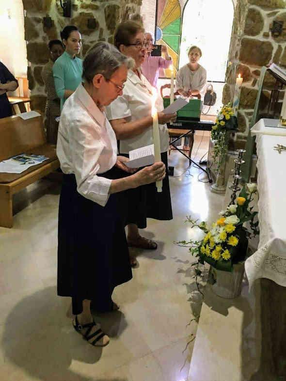Fête des Jubilés de Profession religieuse du Père Leca et des sœurs Julita et Marie Michel - Le Home, 15 septembre 2019