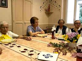 Repas festif à Lourdes: Communautés Soum, Menton et Cité St Pierre août 2019