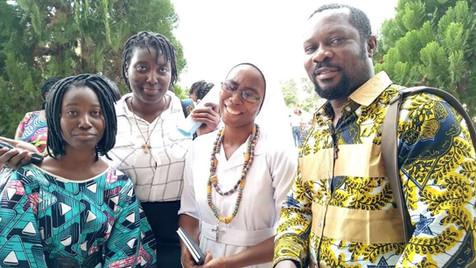Profession Religieuse de Soeur Louise Sossou de la Province du Bénin (1ère togolaise de la Congrégation)  à Libreville - Gabon