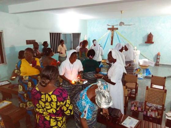 Rencontre en Afrique avec les Laïcs Bleus