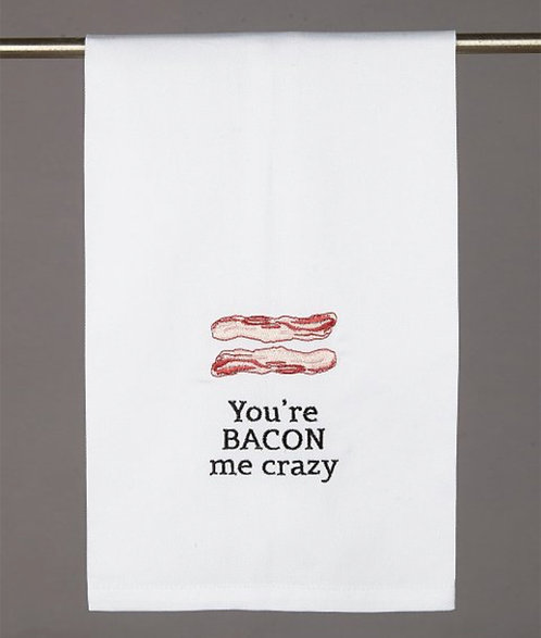 PEKING HANDICRAFT 'You're Bacon Me Crazy' Kitchen Towel