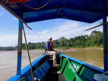 Fieldwork in Amazonian rainforest
