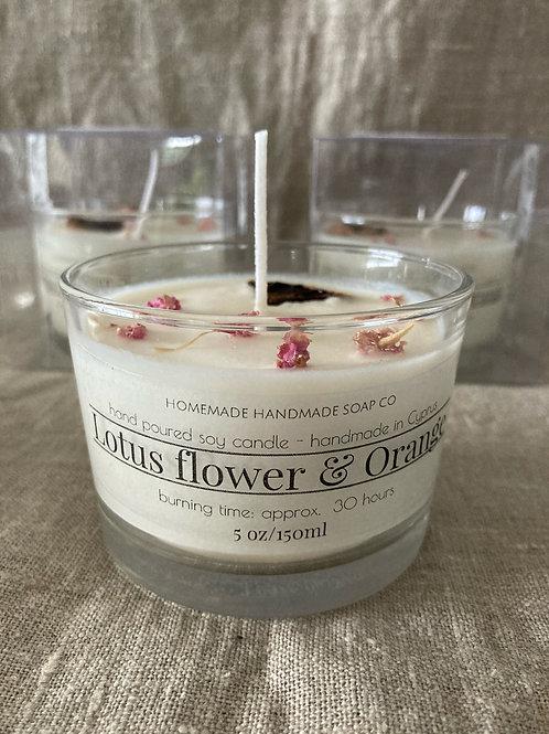 Lotus Flower & Orange candle