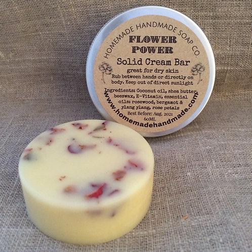 Flower Power solid cream bar