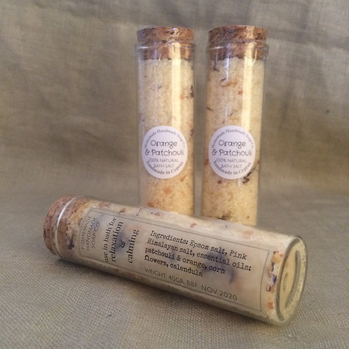 Orange & Patchouli bath salt