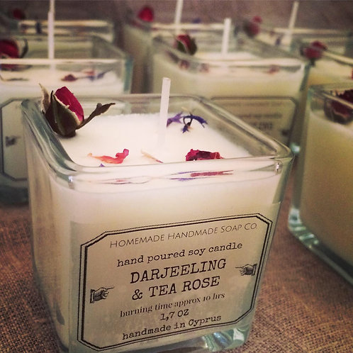 Darjeeling & Tea Rose scented candle