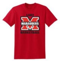 Lady Marauders Red Short Sleeve Shirt