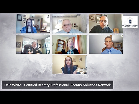Panelists for the online prison rentry s