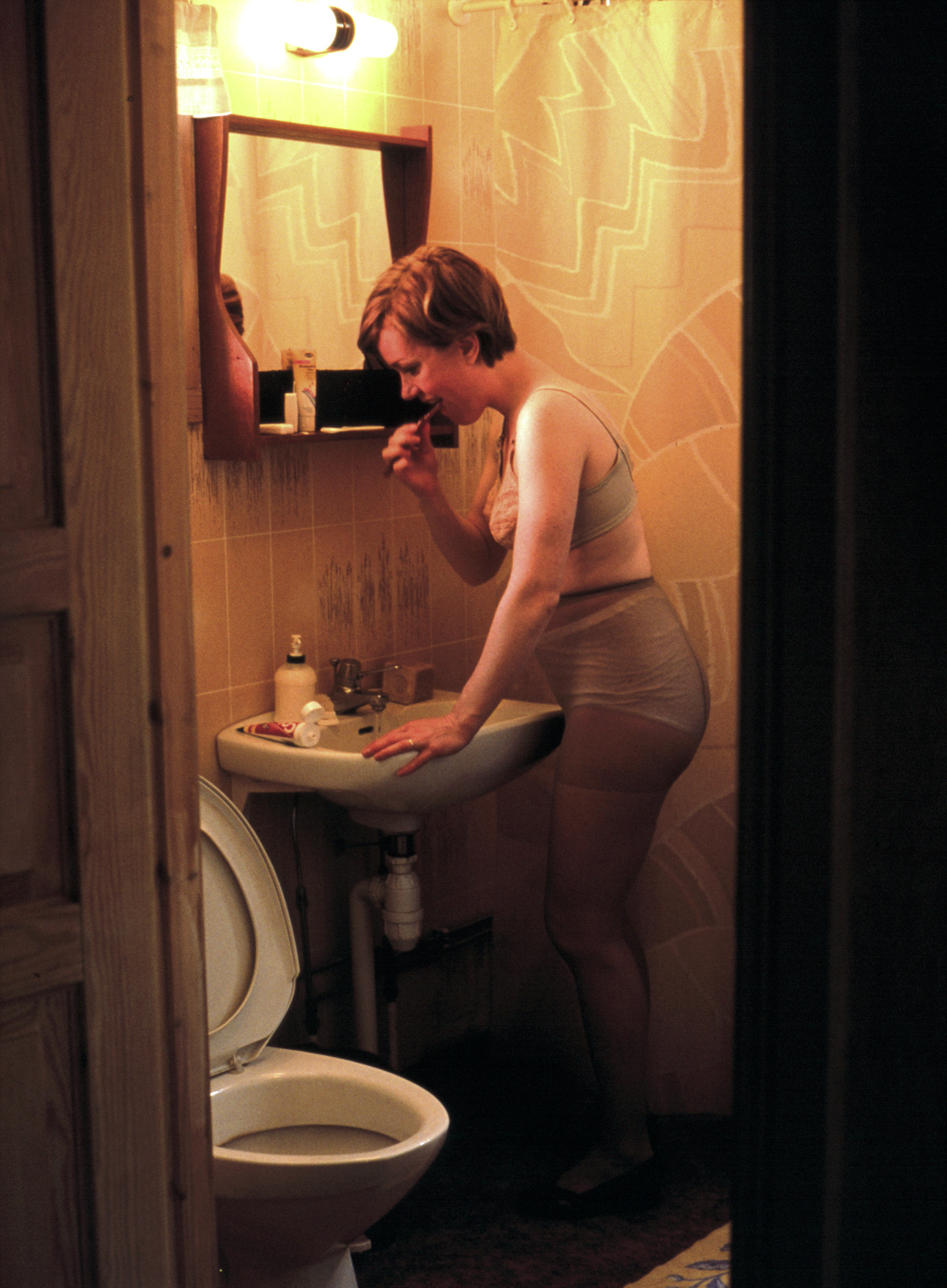 Me in My Mother's Clothes: the Bathroom 1999