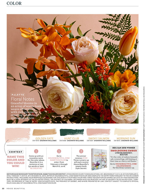 Published in March 2018 House Beautiful