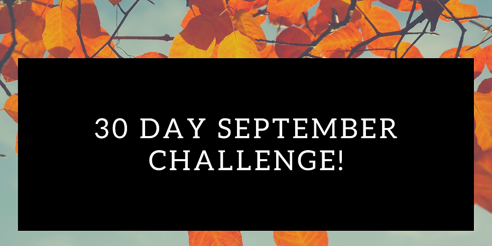 30 Day September Challenge