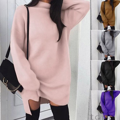 Colour Me Cozy Long Sleeve Sweater Dress