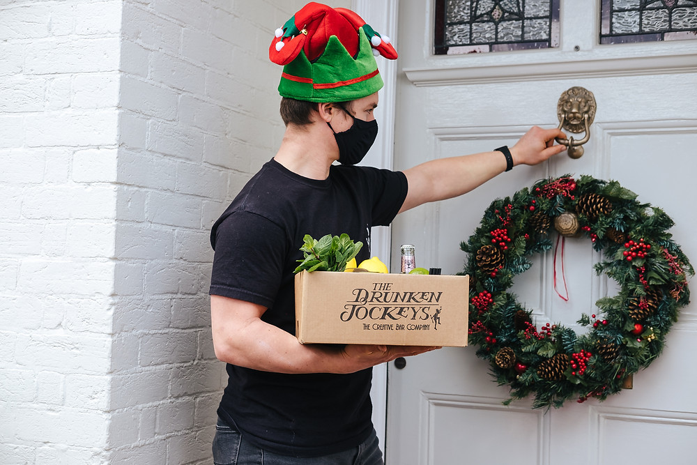 Our cocktail delivery service expanded to corporate clients during the second lockdown. Cocktail masterclasses replaced the work Christmas party so colleagues can still have a socially distanced  party