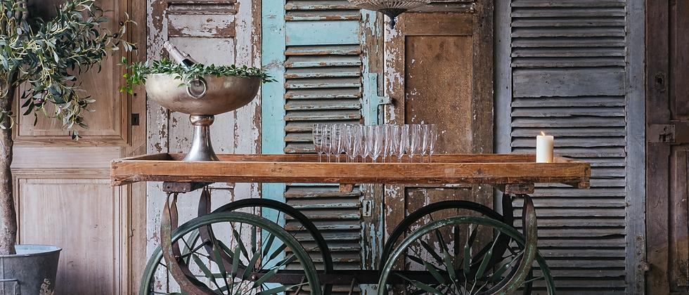 Antique Market Cart Serving Station
