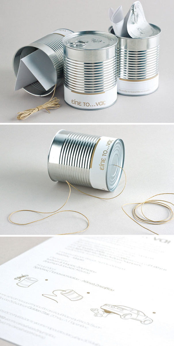 Tin cans with string for guests to attach to the getaway car. An elegant and well designed wedding invitation incorporating a calendar and personalised stickers. A way to get each guest involved in the day! Available with our creative bar service based in Surrey.