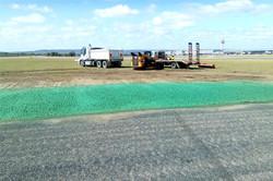 Flexterra hydromulch installation.