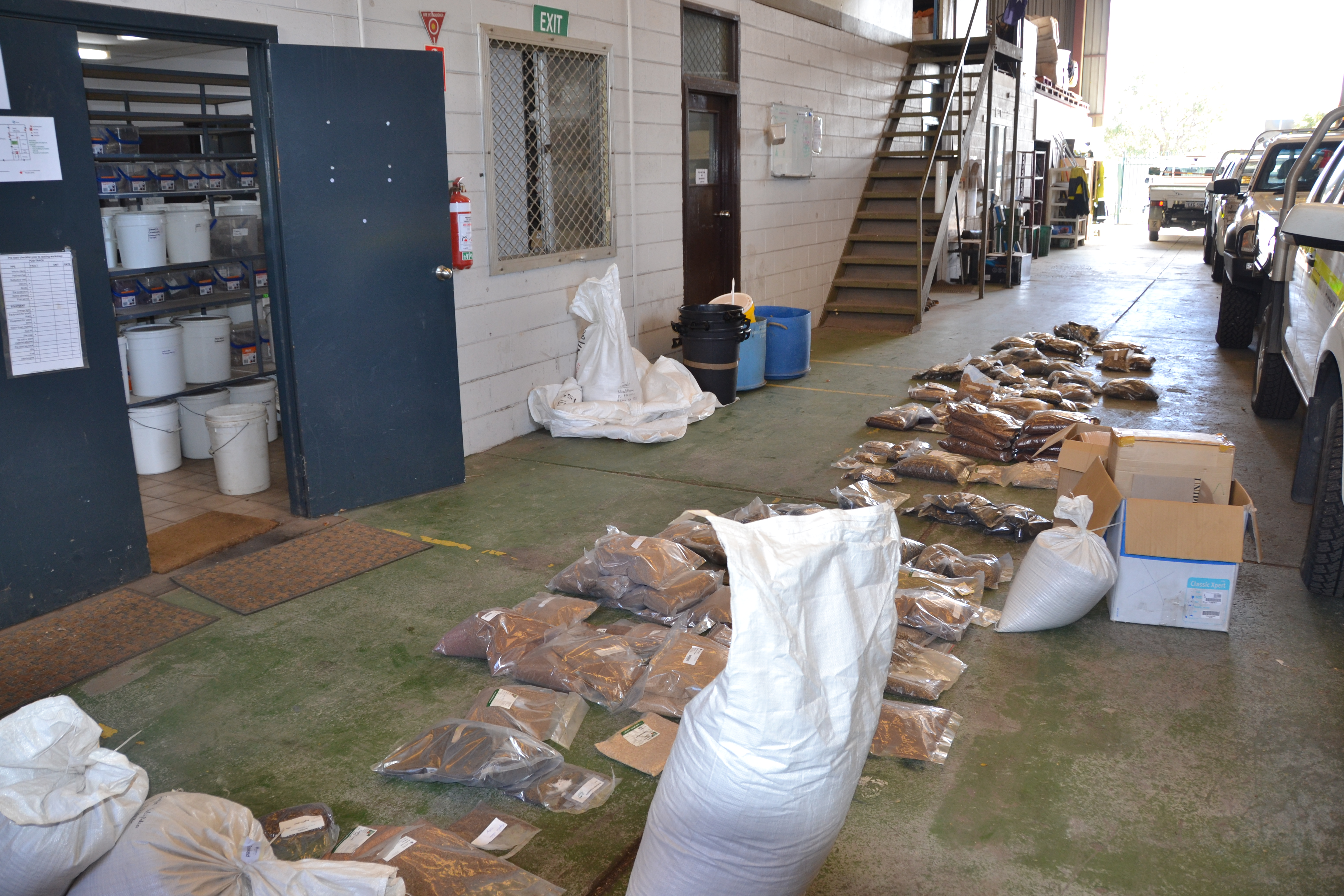 Delivery of seed for QA/QC & storage
