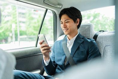 タクシーの乗客