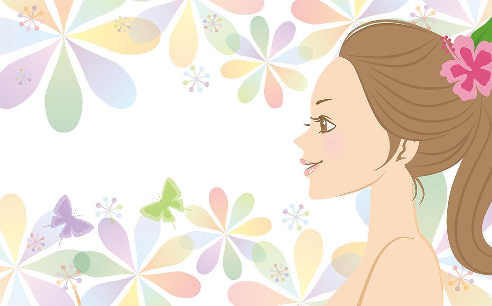 女性 美容 背景