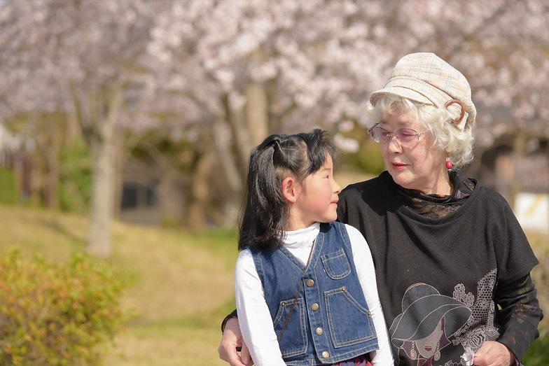おばあさんと子供