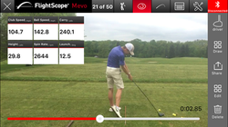 Golf launch monitor in use