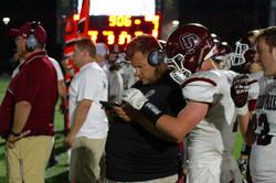 Coach Cielsik and Mike Pataky Hudl Sideline