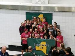 girls Varsity swim section champs 2017