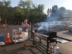 Andy Sharp Grilling for the game