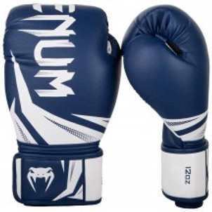 VENUM CHALLENGER 3.0 BOXING GLOVES NAVY/WHITE 14oz