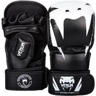 VENUM IMPACT MMA SPARRING GLOVES BLACK/WHITE