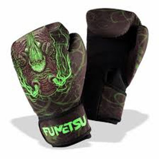 Fumetsu Rampage Washable Boxing Gloves Black/Green 12oz
