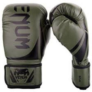 VENUM CHALLENGER 2.0 BOXING GLOVES KHAKI/BLACK 14oz