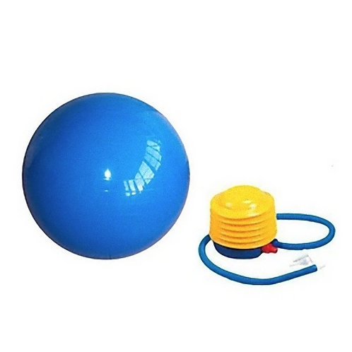 GYM BALL WITH FOOT PUMP & VALVE