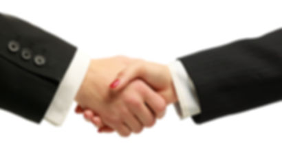 Businesspeople shaking hands isolated on