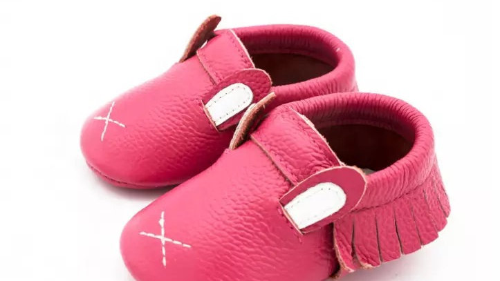 Pink Animal Leather Mocassins