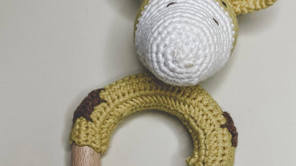 Giraffe Crochet Rattle & Teether