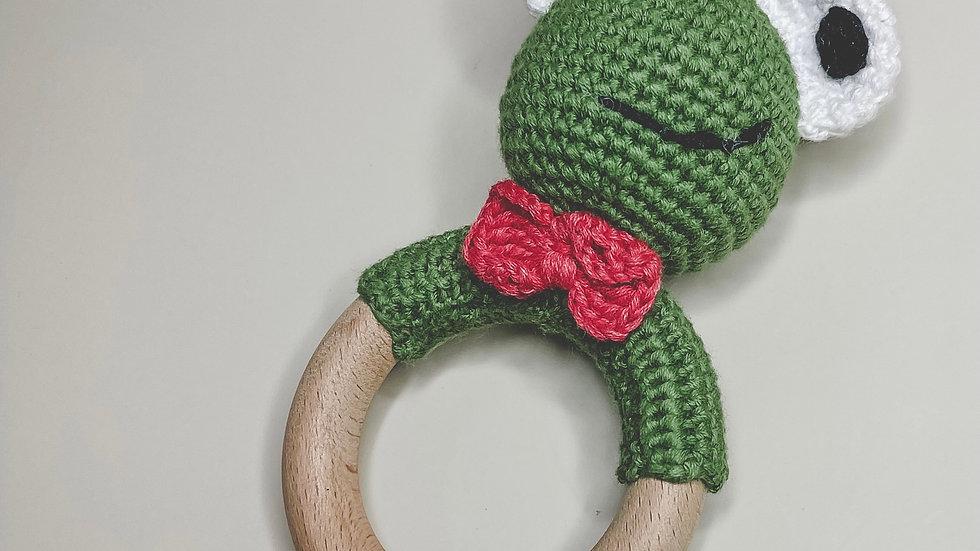 Frog Crochet Rattle & Teether