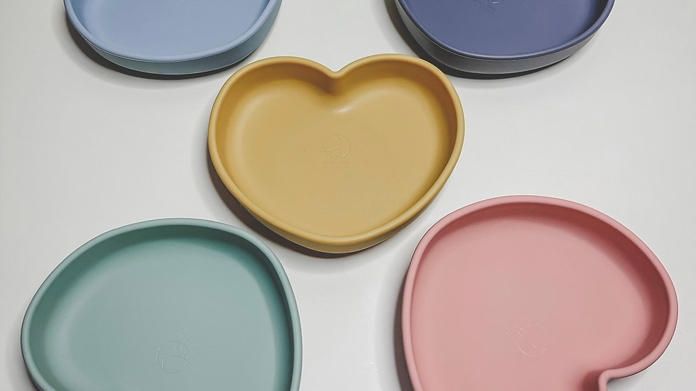 Heart Silicone Suction Bowl