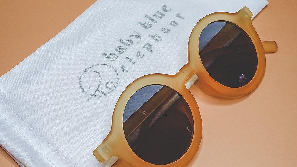 Orange Retro Transluscent Sunglasses