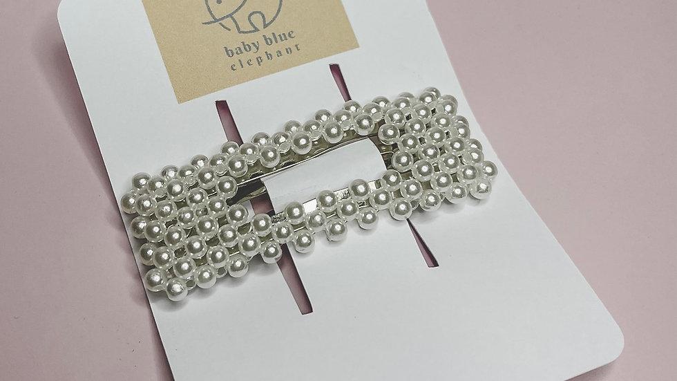 Rectangle Pearl Clip