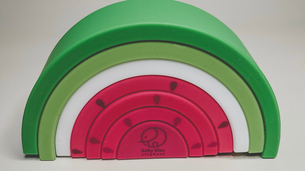 Watermelon Silicone Stacking Toy