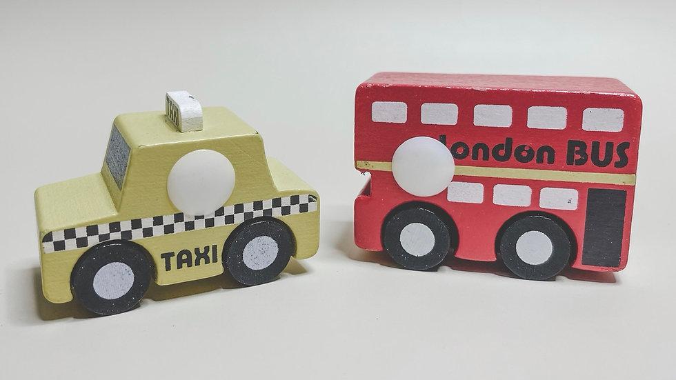 London Bus & New York Taxi Toy Car Set