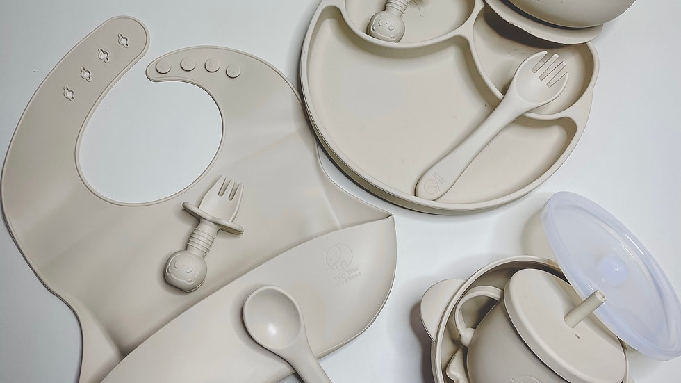 Silicone Tableware Bundle in Caramel