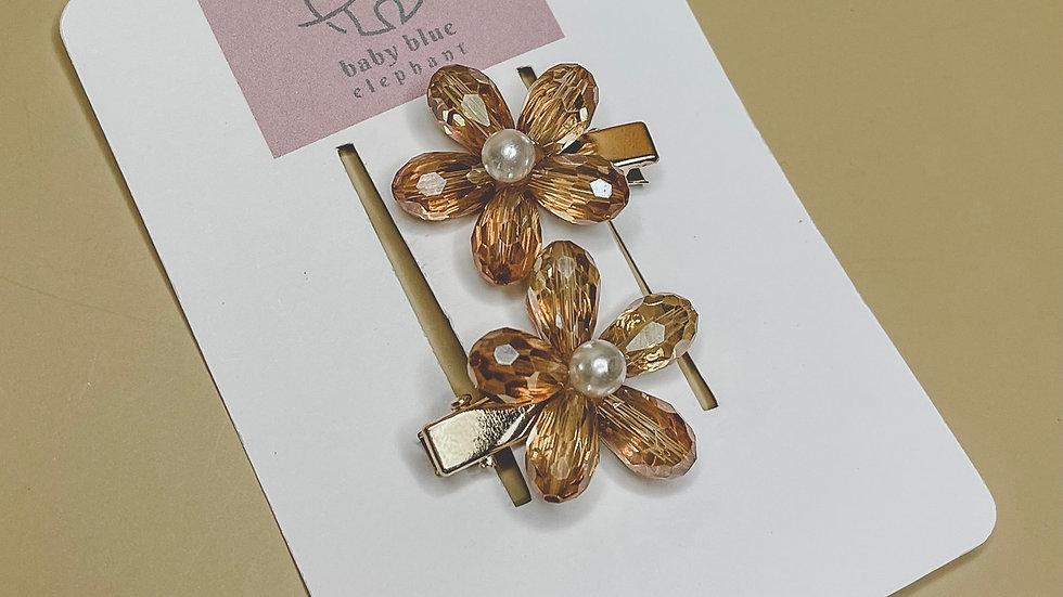 Mini Crystal Flower Hair Piece
