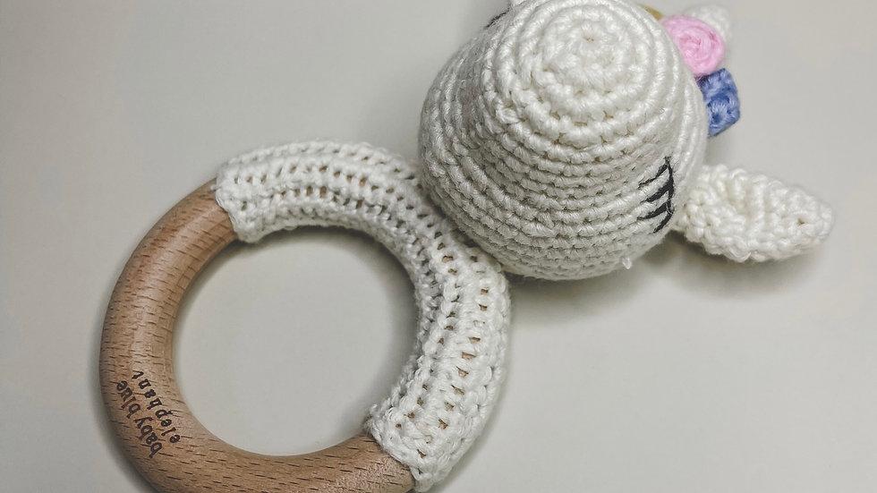 Unicorn Crochet Rattle & Teether