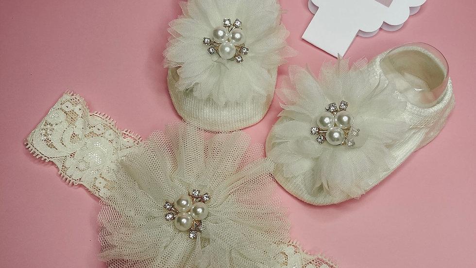 Sock & Headband Pearl Gift Set