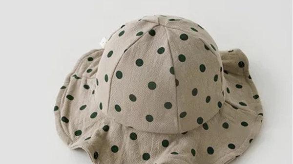 Latte Polka Dot Bucket Hat